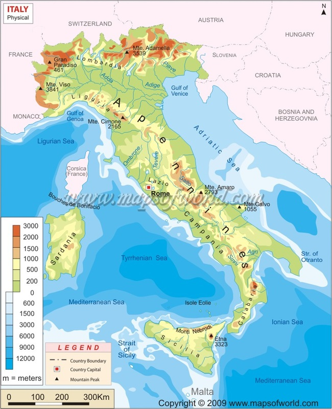 Show A Map Of Italy.Maps Italy